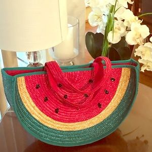 Lulu Guinness London Whimsical Watermelon Tote Bag